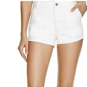 Surrender High Rise white shorts
